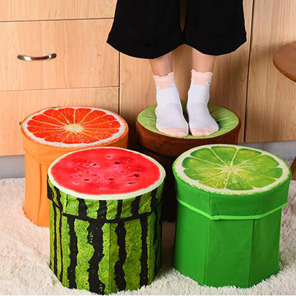 D30*H29CM Ottoman Sofa Stool Footstool Footrest Home Furniture Fruit Style Round Sharp