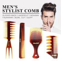 4 x расчески набор Человек парикмахерские расчески винтажные щетки для волос Мужская расческа Pro салон по уходу за волосами инструмент для у