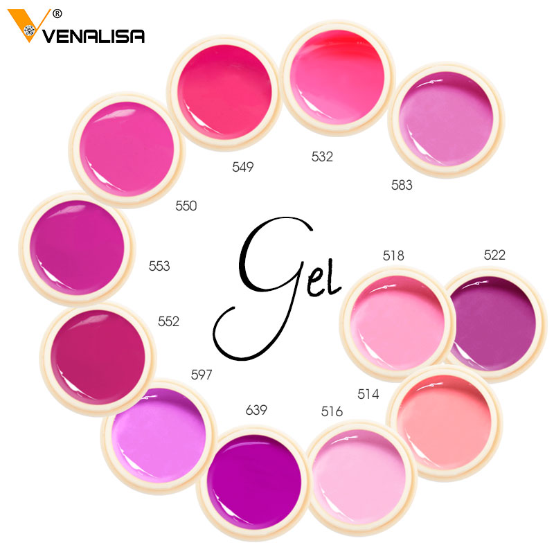 #50638 Venalisa 5ml Painting Gel Canni Supply Soak Off UV LED Nail Lacquer 180 Colors Pure Color Gel for Nail Salon Teaching Gel