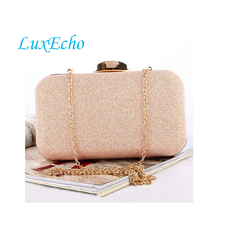 Fashion Rose Gold Women Wedding Handbags Bridal Golden Clutches New Evening Shoulder Bag Bride Handbag Clutches single Chain bag new women s retro hand beaded evening bag wedding bridal handbag chain shoulder bag stitching sequins diamond stone day clutches