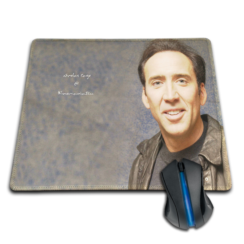 Babaite Square Thicken Gaming Comfy Nicolas Cage MousePad PC Computer Notebook Gaming Mice Play Mat