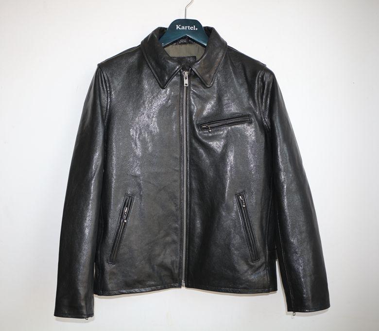 Free shipping,Brand men's 100% genuine leather Jackets,classic sheepskin jacket,biker style jacket.vegetable tanning