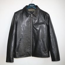 VANLED men's 100% genuine leather Jackets classic sheepskin biker style