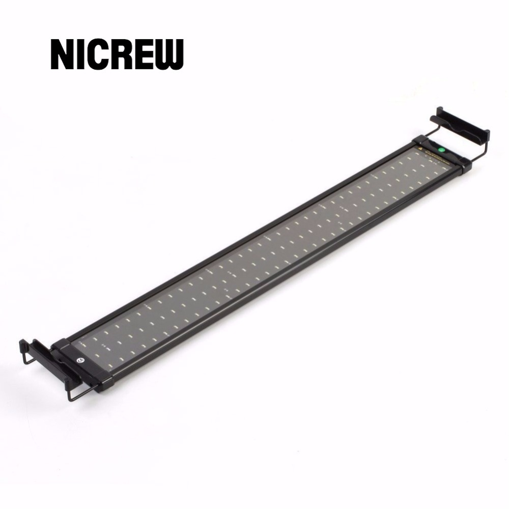 Nicrew 72 94cm Aquarium LED Lighting Fish Tank Light Lamp with Extendable Brackets 90 White and