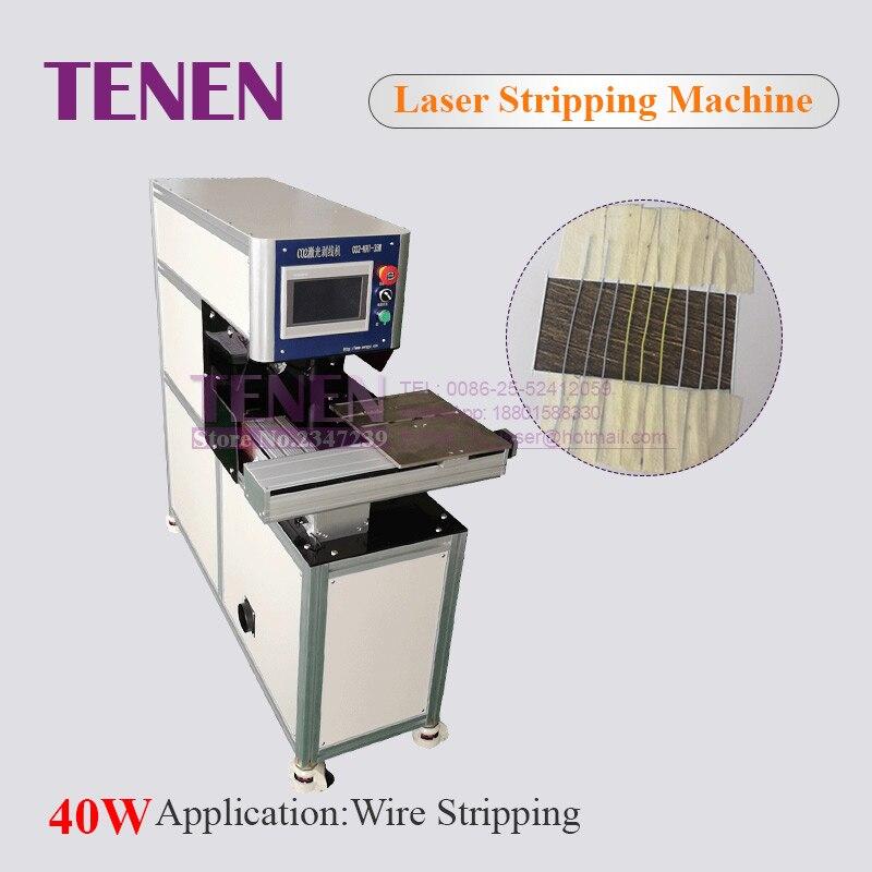 40 W Co2 Laser Rexine Machine de découpe de cuir Co2 Laser Machine à dénuder pour la fabrication de câbles électroniques coaxiaux