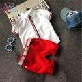 Venda quente! 2016 estilo Verão Crianças conjuntos de roupas de Bebê das meninas dos meninos t camisas + shorts calças roupas terno crianças esportes