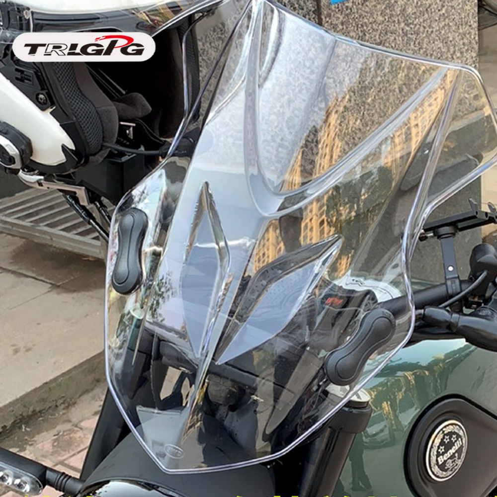Per Benelli Leoncino 500 BJ500 nuovo motociclo parabrezza parabrezza anteriore della visiera di sunPer Benelli Leoncino 500 BJ500 nuovo motociclo parabrezza parabrezza anteriore della visiera di sun