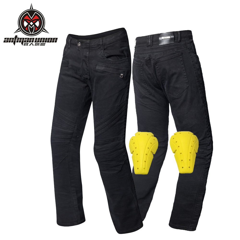 цена на Motorcycle Protective Jeans PK-724 Motocross Men's Off-road Outdoor Jean Demin Cycling Pants With PADS Hip Protectors Jeans