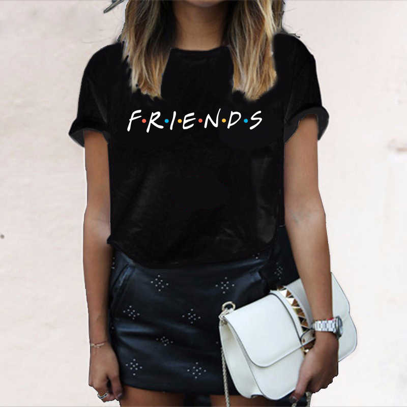 ZSIIBO 2019 Summer FRIENDS Letter t shirt Women tshirt Casual Funny t shirt For Lady Girl Top Tee Hipster Drop Ship T-shirt