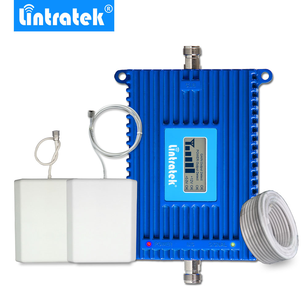 Lintratek 70dB 4G LTE Cell Phone Signal Booster Repeater Amplifier LTE 800MHz LCD Display LTE 800