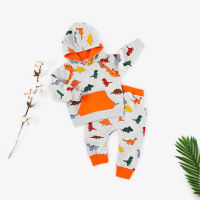 Fine Quality Class A INS Hot Pullover Hooded Dinosaur Kids Set 1 4 Year Old Baby Boy Clothes Baby Girl Clothes Sets
