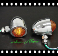 From Aftermarket Chrome Amber TURN SIGNAL LIGHT Fitting For Kawasaki Vulcan VN 750 800 900 1600