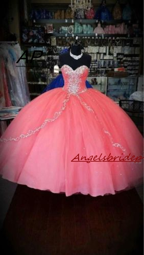 aeff556c5bb21 US $102.48 16% OFF|ANGELSBRIDEP Quinceanera Dress 2019 For 15 Years Fashion  Pink Embroidery Floor Length Womens Sweet 16 Dress Debutante Gowns-in ...