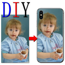 Customize Name Letters Photo Picture Cell Phone Case for Homtom S16 S12 S9 Plus S8 S7 S 16 S 12 S 8 S 7 DIY Back Case Cover(China)