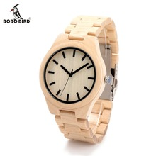 BOBO BIRD CdG30 Male Full Maple Wood Round Needles Watches Casual Simple Deasign Uomo Orologio in