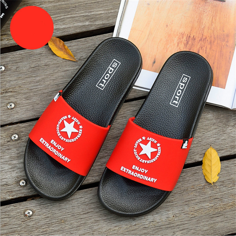 Men Slippers Non-slip Male Slides Fashion Summer Couple Beach Sandals Soft Home Flip Flops Outdoor Indoor House Shoes