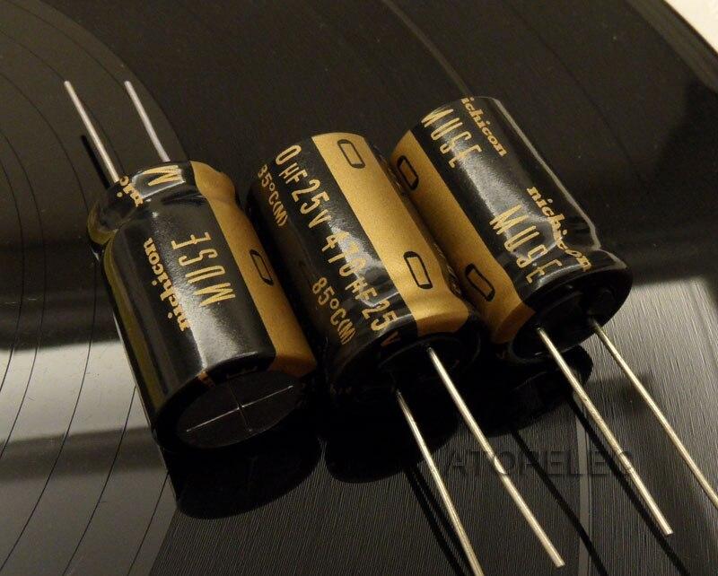"""Nichicon UKZ KZ Premium /""""Nichicon MUSE"""" 25V-100V 10uF-1000uF Audio Capacitors"""