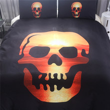 Skull bedding Three pieces set home textile children covers Europe and the US large size polyester fiber without bed linen