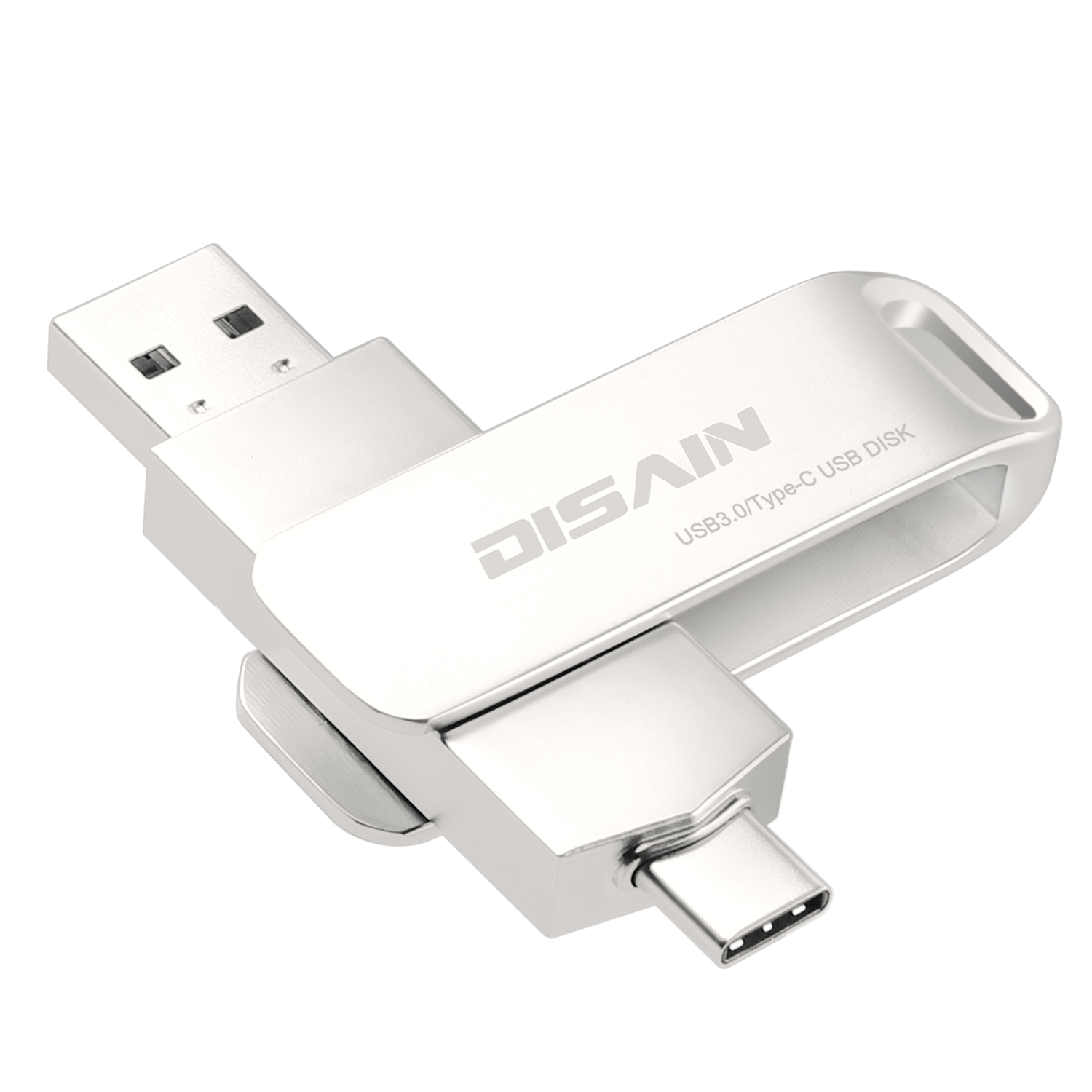 DISAIN USB C Dual Flash Drive, USB3.0/3.1 Type C High Speed Thumb Drive Memory Stick Compatible with Samsung Galaxy, Android image