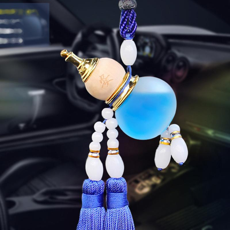 Chinese Gourd Perfume Bottle, Empty Glass for Car Accessories Interior Ornaments