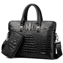 Men s bag crocodile grain handbags iPad bags Designer crossbody bag Men Messenger Bags