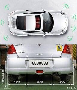 Image 4 - 자동차 자동 Parktronic LED 주차 센서 4 센서 역방향 백업 주차 레이더 모니터 자동차 부저 감지기 시스템 디스플레이