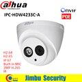 Lo nuevo dh-ipc-hdw4233c-a h.265 ip 2mp dahua full hd 1920*1080 red cámara de infrarrojos apoyo poe y onvif construido en el mic h 265