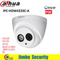 Newest Dahua H.265 2MP IP Camera DH-IPC-HDW4233C-A Full HD 1920*1080 Network Camera IR Support POE and Onvif built in mic  H 265