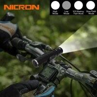 NICRON 5 Вт компактный USB Перезаряжаемый Фонарик 300LM 170 м дальность луча водонепроницаемый IPX4 домашний фонарь лампа N62 для дома для верховой езды