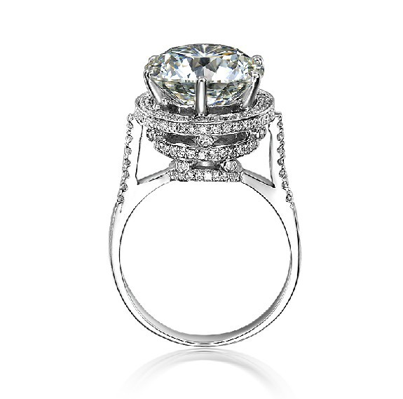 luxury 5ct design vintage antique nscd simulate diamond engagement ring fabulous ring with more than 200pcs - Cheap Vintage Wedding Rings