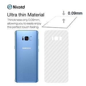 Image 5 - Zurück Aufkleber 3Pcs Für Samsung Galaxy A8 A6 J6 2018 Plus Screen Protector Für Samsung S9 Plus S8 Carbon faser Auf Telefon Zurück Film