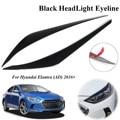 Пара автомобильных фар Eyeline точечный молдинг ABS декоративная накладка для Hyundai Elantra AD 2016 2017 2018 наклейка для стайлинга автомобиля