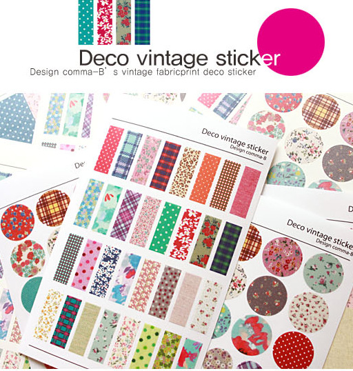 6 sheets/lot deco vintage floral paper sticker diy scrapbooking diary sticker post it kawaii stationery school supplies