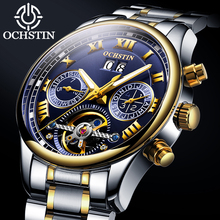 Mens Tourbillon Automatic machinery Watches OCHSTIN Top Brand Watch Men Full Steel Business Waterproof Watches Relogio Masculino