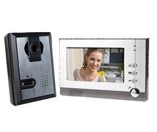 Yobang Security 7″ TFT LCD Color Video Door Phone , Video Doorbell Audio Visual Intercom Monitor with CMOS Camera