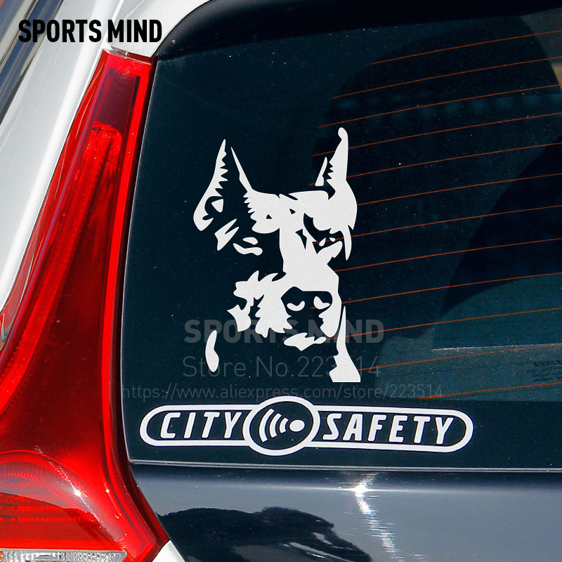 10 Pieces dogs head Automobiles Car Body Sticker Waterproof Reflective vinyl Sticker Decal Car styling For All Car accessories