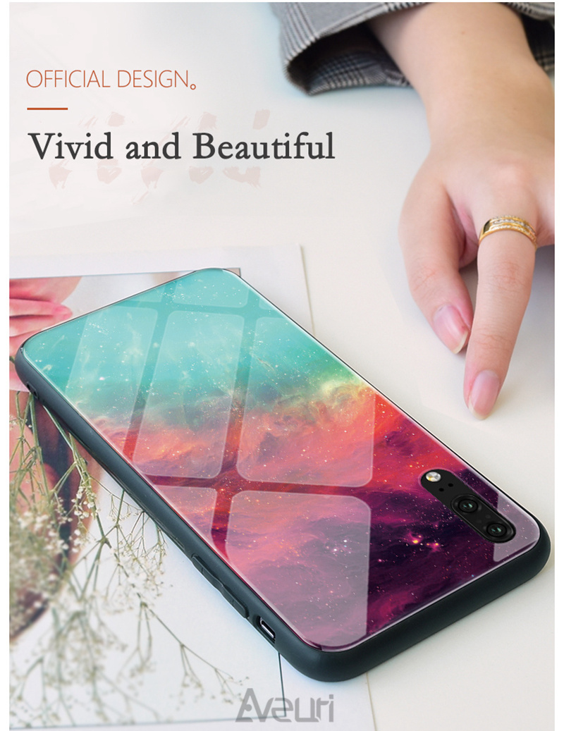 iStylishmall - Tempered Glass Phone Case For Samsung Galaxy  S8 S9  S10 Plus Note 8 9