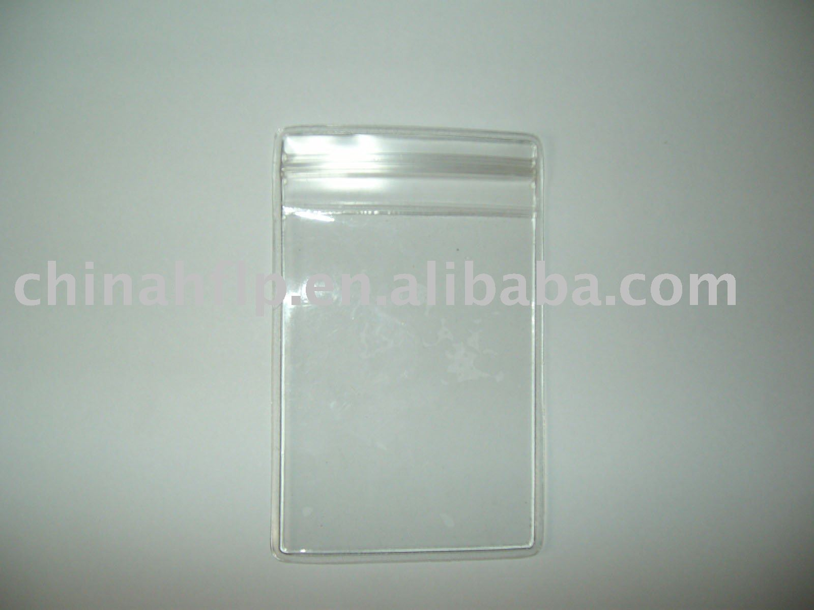Clear Soft Plastic Name Punch Vertical Badge Id Card