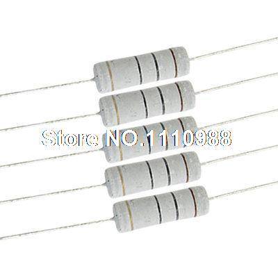 5 Watt 10 ohm Metal Oxide Film Resistor 5W 700V 10 Pcs Fgrkv tolerance 1% 5w 1g ohm high voltage resistor red