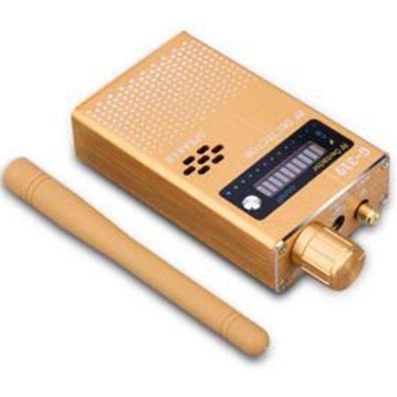 G319 Wireless RF Signal Detector Finder Gold Color US Anti-GPS Locator Cell Phone Camera Finder Full Range Bug Detector Finder
