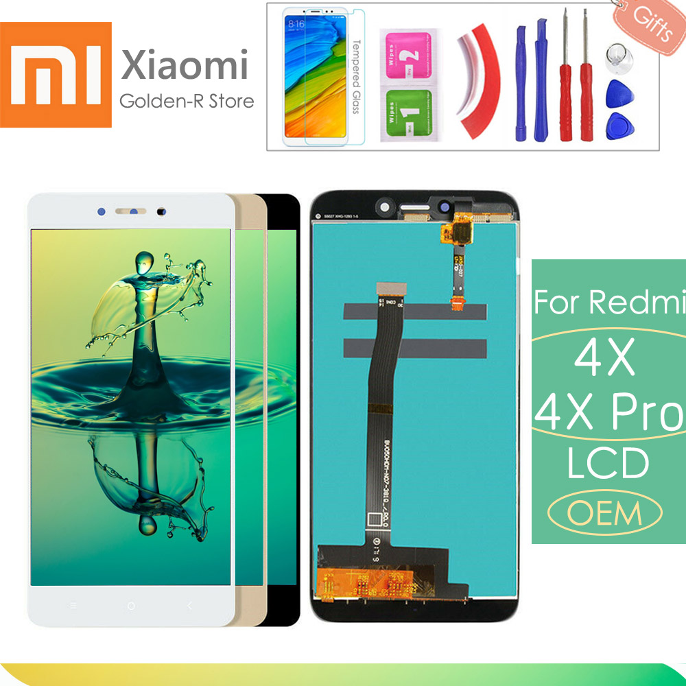 """5,0 """"Für Xiaomi Redmi 4X LCD Display Touchscreen Digitizer Montage Ersatz Mit Rahmen Für Xiaomi Redmi 4X Pro prime + Geschenke"""
