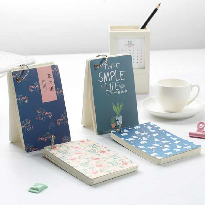 Hkyshp Mini English Word Book Cute Portable Notes Student Memo