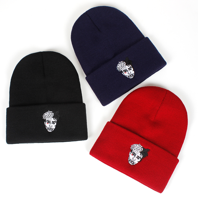 5868a8332 2018 new xxxtentacion Dreadlocks Beanies For Men Women Fashion Knitted  Winter Hat Hip-hop Skullies cap Hats Hip-hop Skullies Hat