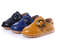 Spring 2016 new models boys leather shoes genuine leather children's soft bottom toddler baby boys shoes child shoes