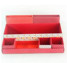 New Creative Folding DIY Paper Board Storage Box Desk Decor Stationery Makeup Cosmetic Box Multifunction Finishing Organizer Box