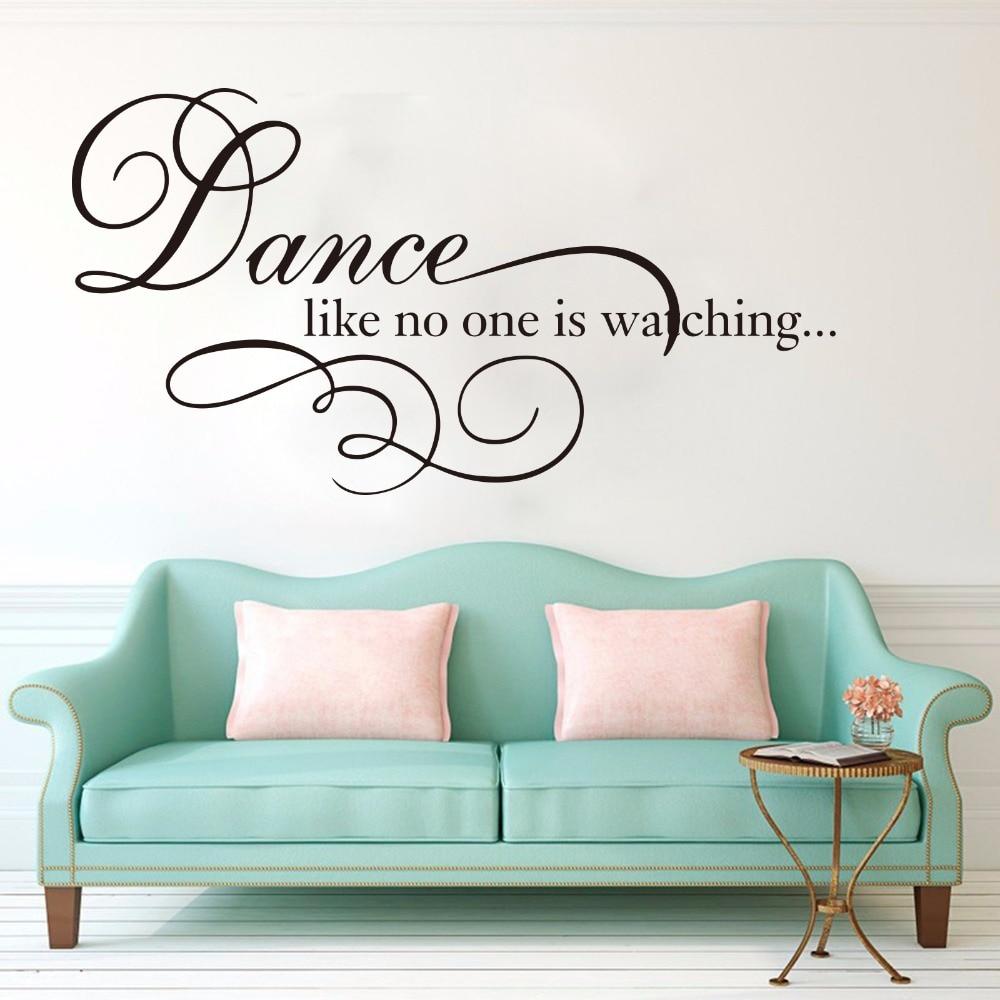 DANCE LIKE NO ONE/'S WATCHING GIRLS DECAL WALL VINYL DECOR STICKER