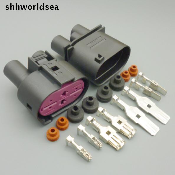 Shhworldsea 5/30/100 sets 6,3mm + 9,5mm 4pin männlich-weibliche DCS Power Versiegelt stecker Sauerstoff sensor stecker lüftersteuerung stecker für VW