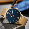 Curren Mens Watches Top Brand Luxury Gold Quartz Men Watch Drop Shipping Mesh Strap Casual Sport Male Relogio Masculino 8238 5