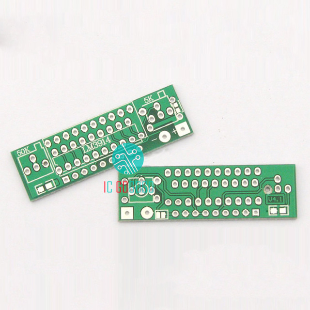 5pcs Electronic Diy Kits Lm3914 Pcb Circuit Board For Capacity