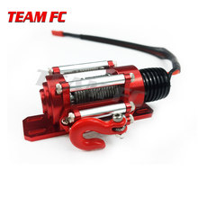 RC Car Metal Steel Wired Automatic Simulated Winch for 1/10 RC Crawler Car Axial SCX10 90046 D90 TRX4(China)